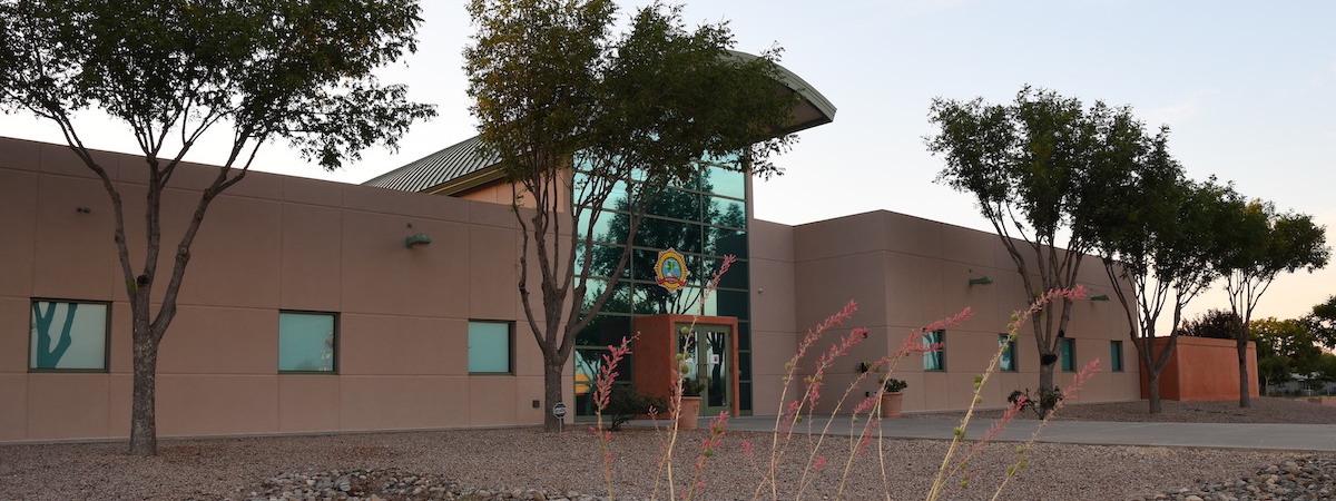 ILEA Roswell Academy Exterior at Dusk
